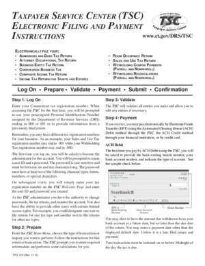 129 page 2 : TPG-129, Taxpayer Service Center (TSC) Electronic