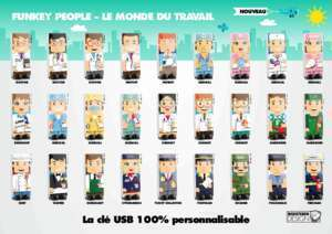 Bowling design : La clé USB 100% personnalisable FUNKEY PEOPLE LE Pixika