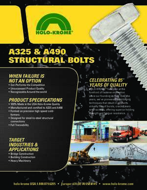 A325 & A490 STRUCTURAL BOLTS - Holo-Krome