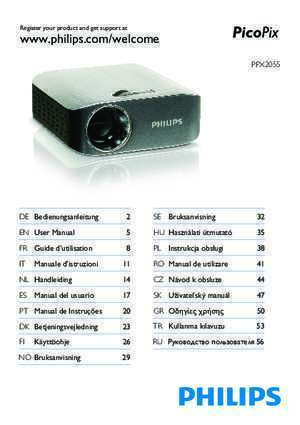 Manual de koval : Philips PPX-2055 DLP User Guide Manual YHS Online Stores