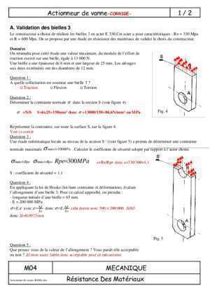 Actionneur de vanne etude : Actionneur de vanne -CORRIGE- 1 2 artaud si free fr