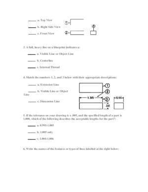 6e 2011 corrected : Blueprint Reading PRE-TEST No Sweat Training