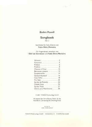 Page 1 Baden Powell Songbook Vol. 3 Page 2 Baden Powell ...