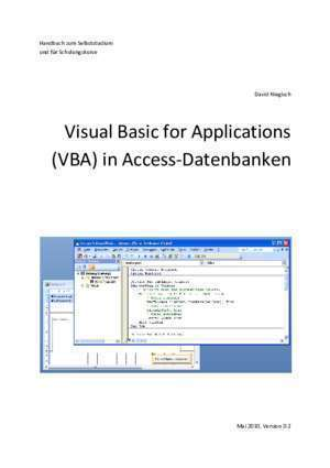 Access vba : Visual Basic for Applications (VBA) in Access