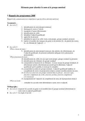 Accord groupe nominal cm2 : Aborder le groupe nominal ac-orleans-tours fr