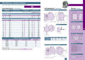 46 page 176 : Very high speed reducting ratio geared motors R1