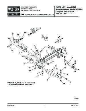 91147 : WESTERN PRODUCTS P O BOX 245038 Mount Assembly Box