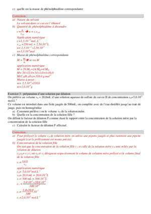 Ajustera : Exercices solutions dilutions cor