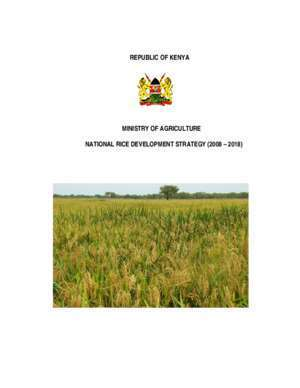 Nrds : REPUBLIC OF KENYA MINISTRY OF AGRICULTURE NATIONAL