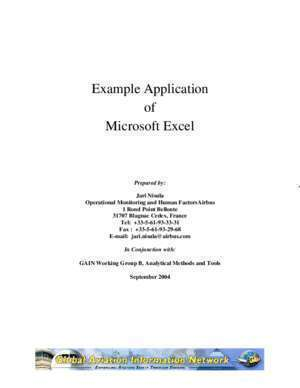 Applications excel : Example Application of Microsoft Excel Flight
