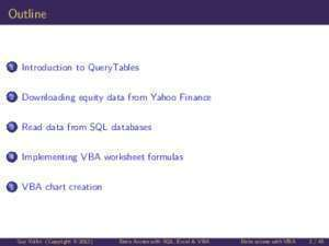 Access vba : Data Access with SQL, Excel & VBA University