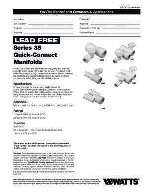 3589 : Series 35 Quick-Connect Manifolds 3589 3583