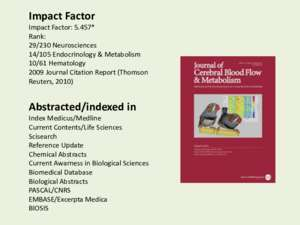 2. Cerebral blood flow and Metabolism - University of