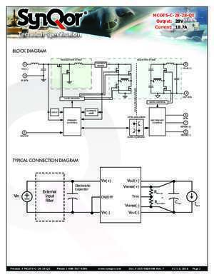 75 page qe : MILITARY COTS DC-DC CONVERTER SynQor