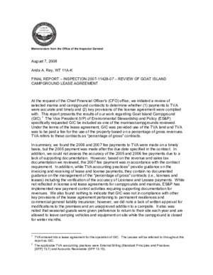 11428 07 : Memorandum from the Office of the Inspector General