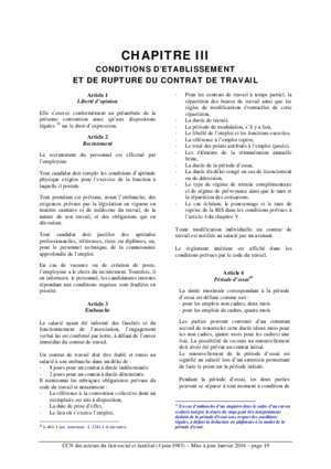 Indemnite de licencement : Convention collective nationale SNAECSO