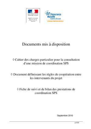 Agent de securite ccp : DOCUMENTS d APPUI à la MISE en PLACE de la MISSION