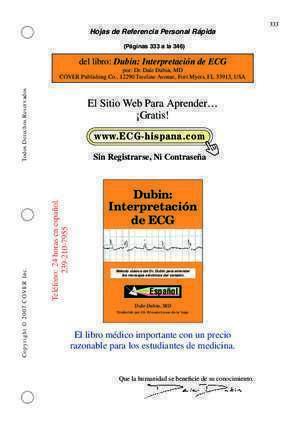 Dubin : Dubin Interpretación de ECG Dr Dale Dubin The MD Site