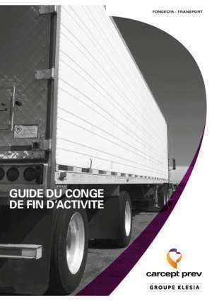 Capital deces 712a : Guide du conge de fin d activite Carcept Prev