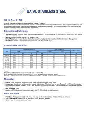 Astm 16 : ASTM A 778 90a Natal Stainless Steel