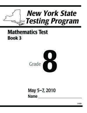 3 d secure : Mathematics Test NYSED