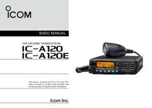 Can without transceiver : 1 ICOM France