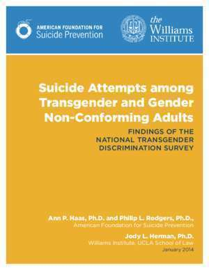 Suicide : Suicide Attempts Among Transgender and Gender Non
