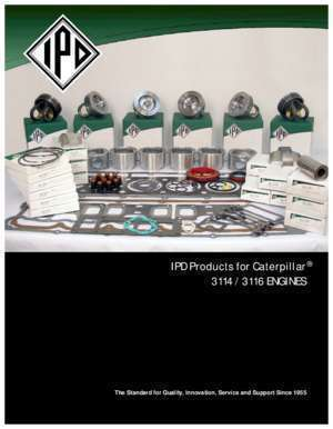 3116 : IPD Products for Caterpillar 3114 3116 ENGINES