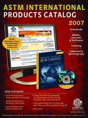 ASTM InTernATIonAl PRODUCTS CaTalOg