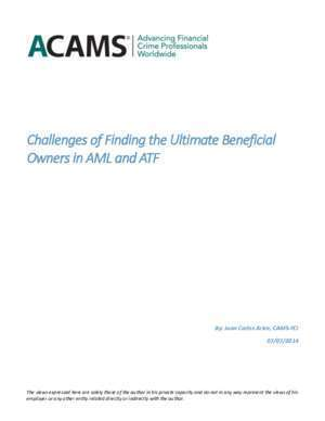 hallenges of Finding the Ultimate eneficial Owners in AML