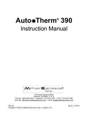 Auto Therm 390 - mettlerelectronics.com