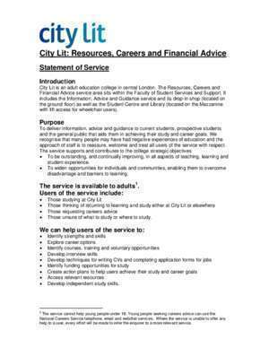 City Lit: Resources, Careers and Financial Advice