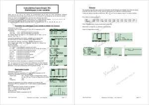 35 page 176 : Exercice Calculatrice Casio Graph 35 Statistiques
