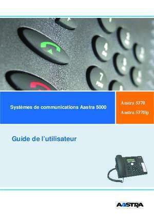 Aastra 5370 Systèmes de communications Aastra 5000