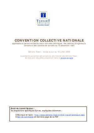 A convention collective 3018 : Convention collective nationale Syntec