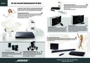 Un son surround impressionnant de Bose