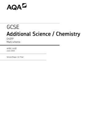 Additional Science / Chemistry - AQA