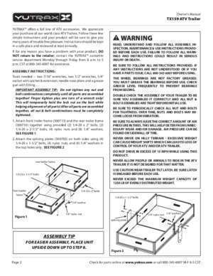 Product Manual for ATV Trailer - Northern Tool