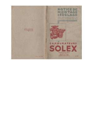 Revue technique solex : Carburateur Solex Cavads