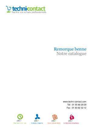 Remorque benne Notre catalogue - Techni-Contact