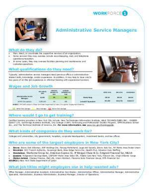 71760 : Administrative Service Managers Welcome to NYC gov