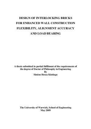 2768 1 : A Thesis Submitted for the Degree of PhD at the