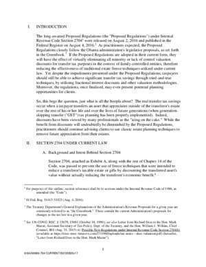 2704 et : THE RECENTLY PROPOSED SECTION 2704 REGULATIONS