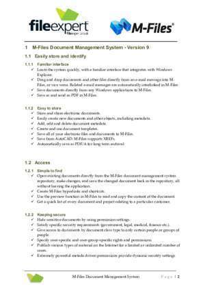 Administration erp navision : Report M-Files Document Management System