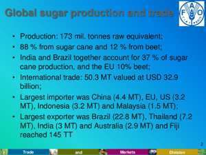 Dr chang : Overview of Sugar Policies and Market Outlook