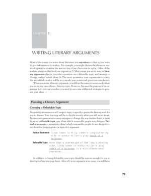 Audience 30 : WRITING LITERARY ARGUMENTS Cengage Learning