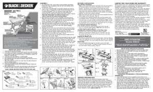 Workmate 425 tYPe 6 normal INSTRUCTION MANUAL
