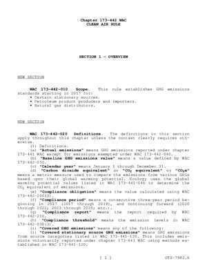 173 2 : CLEAN AIR RULE Chapter 173-442 WAC Covered stationary