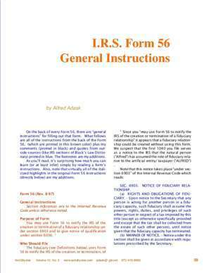 I.r.s. : I R S Form 56 General Instructions famguardian org