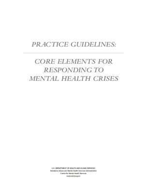 4427 : PRACTICE GUIDELINES SAMHSA